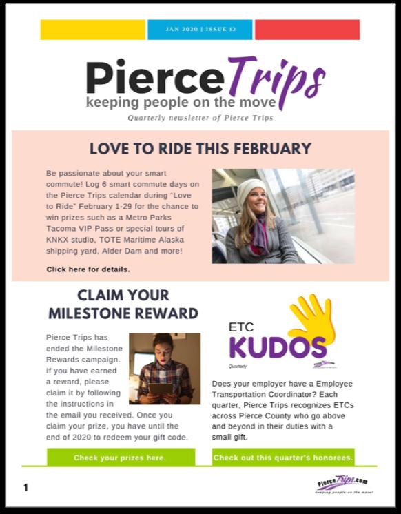 Pierce Trips Winter 2020 Newsletter