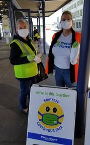 Pierce Transit Mask Distribution at Transit Center