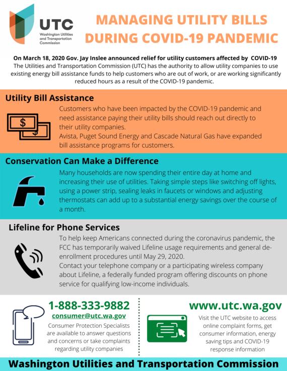Managing Utility Bills during COVID-19 pandemic