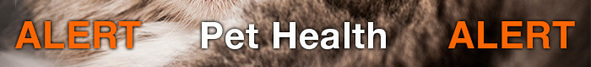 Pet Health Alert Banner