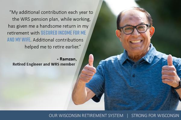Ramzan, retired engineer and WRS member.