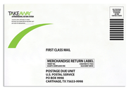 Take-back envelopes
