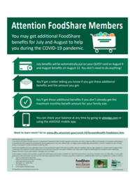 Additional FoodShare Benefits, P-02647