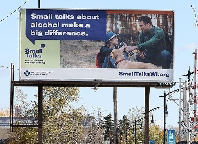 Small Talks billboard in Superior