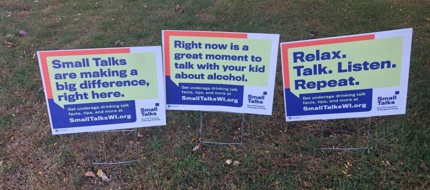 Small Talks yard signs in Brodhead