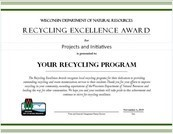 Recycling Excellence award