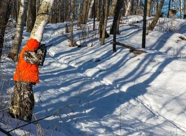 Wild Wisconsin hunter