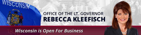 office of the lieutenant governor of the state of wisconsin rebecca kleefisch - wisconsin is open for business