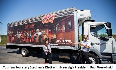 Secretary and Neesvig's Truck