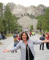 Stephanie at Mt Rushmore