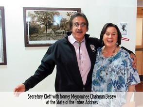 Stephanie with Chairman Besaw