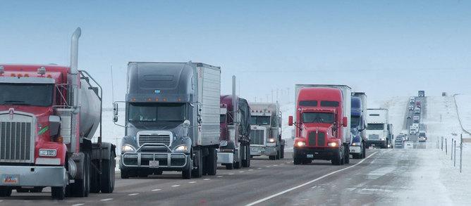 Trucks on 80