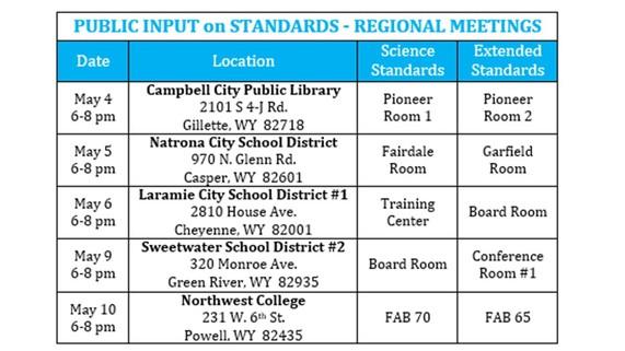 Public Input Mtg. Schedule May 2016