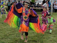 Arapaho dancing girl
