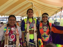 Native American girls in full regalia