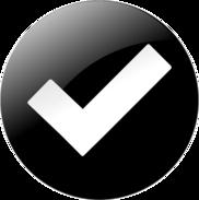 black check mark