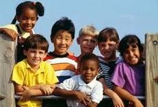 Picture of happy children of many races