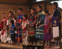 Native children in regalia
