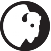 Buffalo head logo for Wyoming PBS