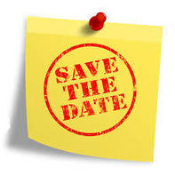 save the date sticky note