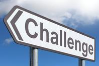 cartoon sign saying challenge