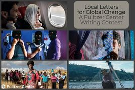 Local letters for global change poster with various scenes from around the earth