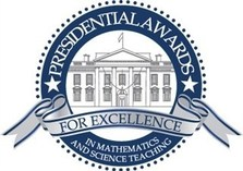 Logo for presidential awards for excellence in math and science teaching