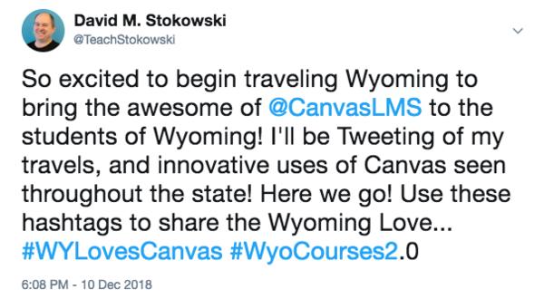 Tweet of the month from David M. Stokowski