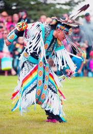 Native American male dancer in full regalia
