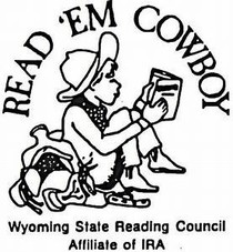 Drawing of young cowboy reading a book