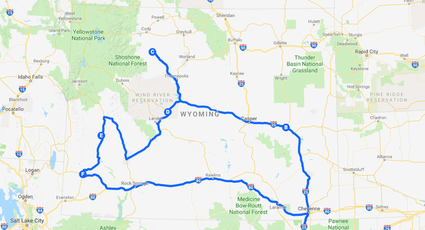 January roadshow map
