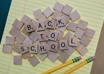 "Scrabble letters spell out ""Back to School"""