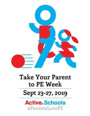 Logo for Take Your Parent to P.E. Week