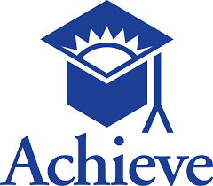 Logo for Achieve depicting graduation cap