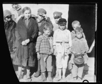 A family of orphans returning to Poland in photo taken in 1920
