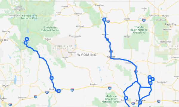 Map showing Roadshow XIV