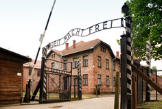 Auschwitz concentration camp gates
