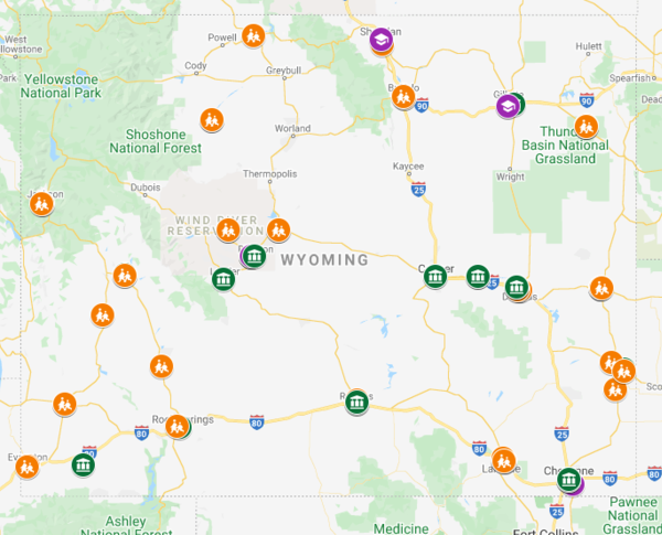Map of Adoption Consultant services for May