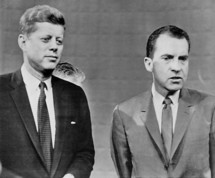 photo of John F. Kennedy and Richard Nixon at the 1960 presidential campaign debate