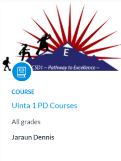 Screenshot of Uinta's Professional Development Canvas Course