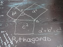 chalkboard with math problems