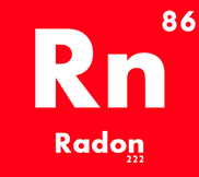 Radon as shown on the periodic table of elements