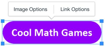 Cool Math Games Image and Link options screenshot