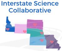 Logo of Interstate Science Collaborative logo depicting the states of Idaho, Wyoming, South Dakota, Nebraska, Kansas and Missouri