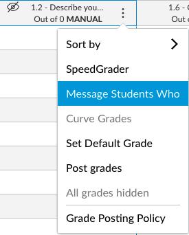 Messaging Students Who Screenshot