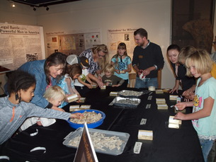 Attendees crafted their own fossil ID kits at Earth Science Day.