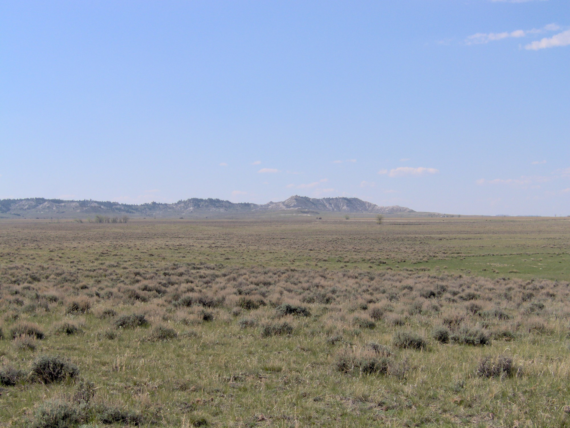 Rochelle Hills, eastern Powder River Basin, Wyoming. This area is considered to be an important recharge area for the Upper Wyodak coal seam. Photo co