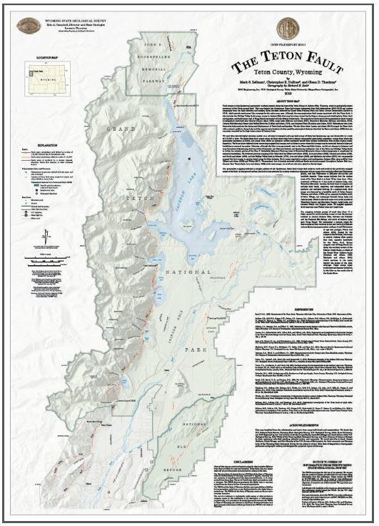 Teton fault map