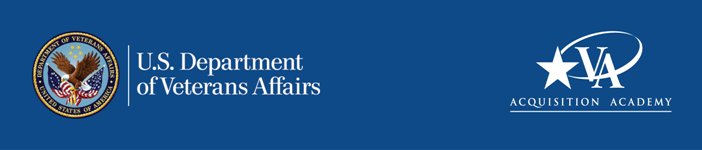 U.S. Department of Veterans Affairs, Acquisition Academy banner graphic