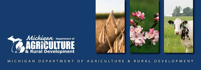 Michigan Department of Agriculture and Rural Development banner